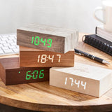 Flip Click Clock- Walnut