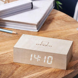 Flip Click Clock- White Maple