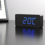 Slab Black Click Clock / Blue LED