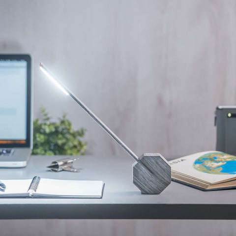 Octagon One Desk Lamp-Ash