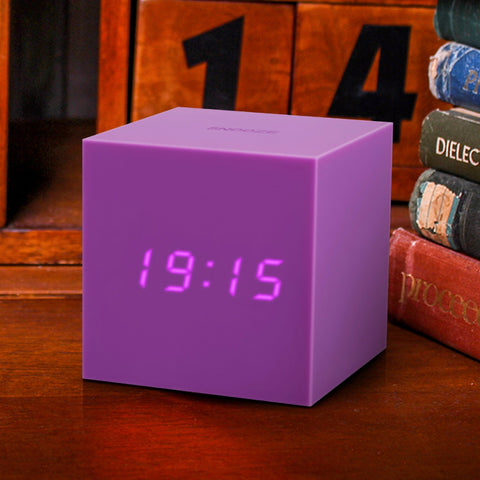 Gravity Cube Click Clock Purple