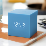 Gravity Cube Click Clock Skyblue