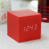 Gravity Cube Click Clock Red