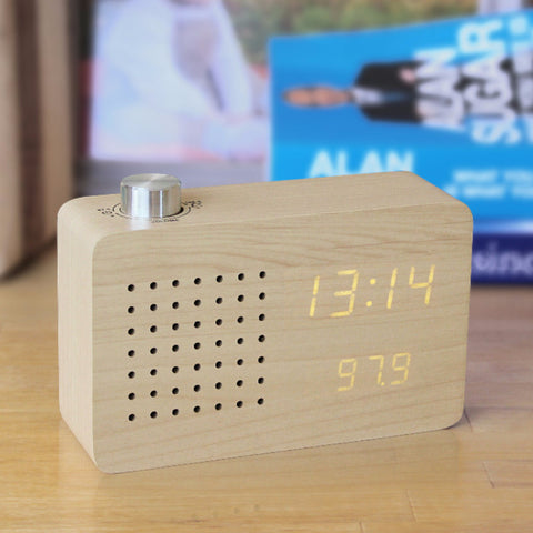 Maple Radio Click Clock