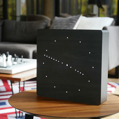 Black Analogue Click Clock / White LED