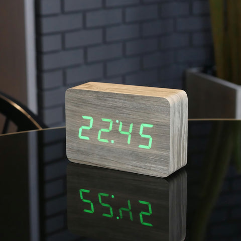 ... Brick Ash Click Clock / Green LED