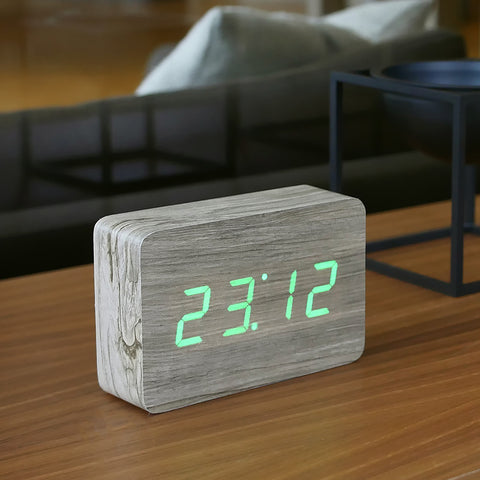 Brick Ash Click Clock / Green LED