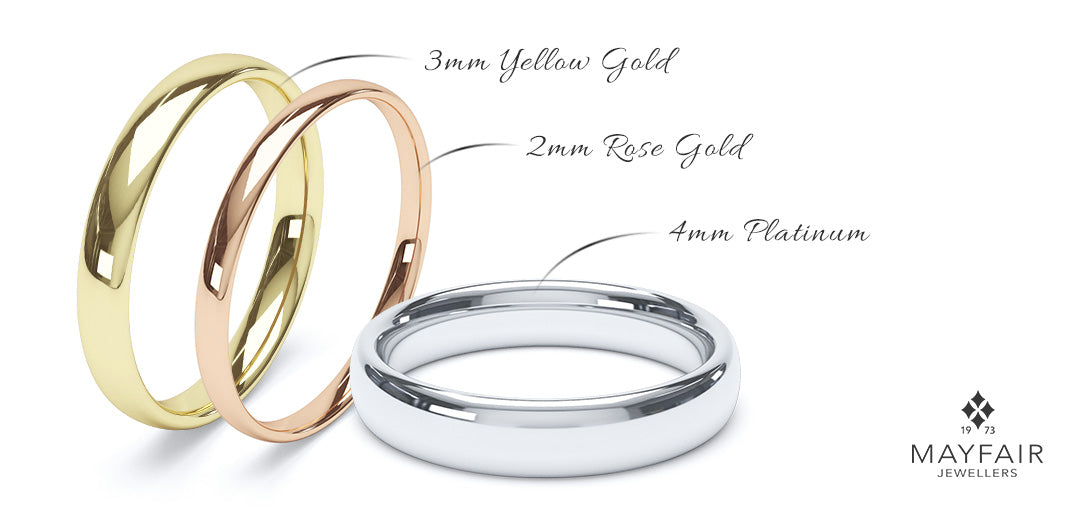 popular plain wedding rings