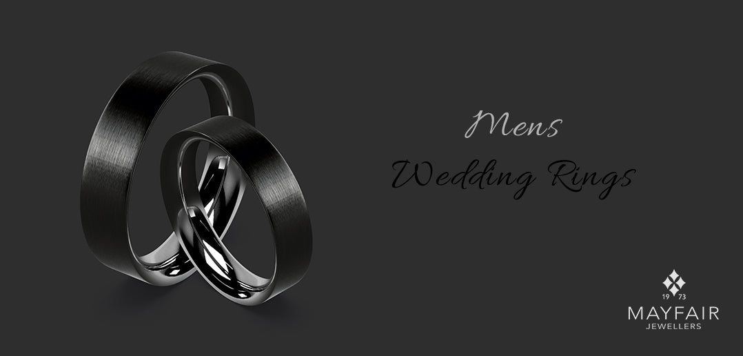 men alternate wedding rings black zirconium