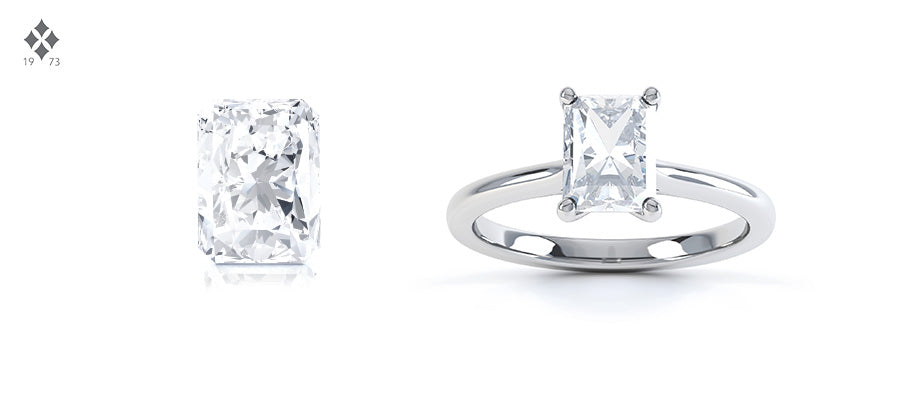 Radiant cut diamond shape