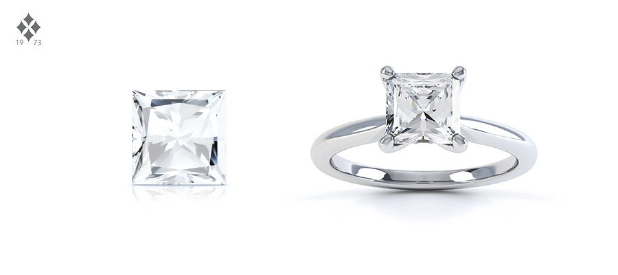 Square Princess Cut Diamond Shape
