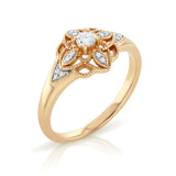 18ct gold floral cluster dress ring