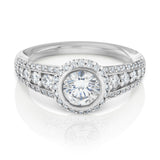 Ritani 18ct white gold diamond engagement ring setting