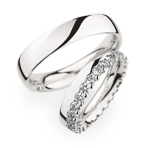 Christian Bauer ladies diamond wedding band. Platinum and diamond wedding band.