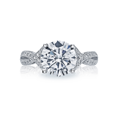 Tacori Ribbon Pave Diamond Engagement Ring
