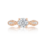 Tacori Ribbon Rose Gold Engagement Ring (2578RD)