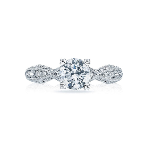 Tacori Pave Solitaire Diamond Engagement Ring