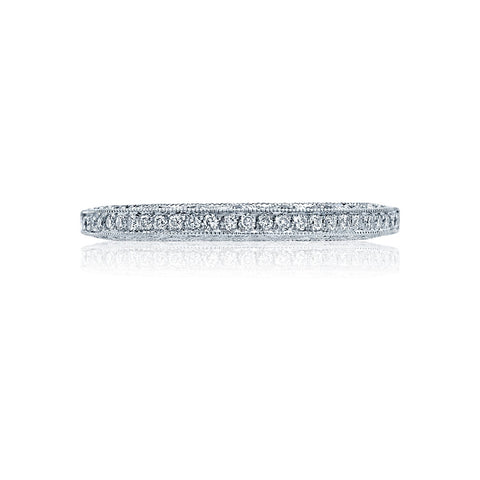 Platinum and Diamond Classic Crescent Wedding Band, Tacori 2616B