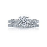 Tacori Solitaire Crescent Silhouette Diamond Engagement Ring (2616RD)