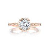 Tacori Halo Rose Gold Engagement Ring (2620RDP)
