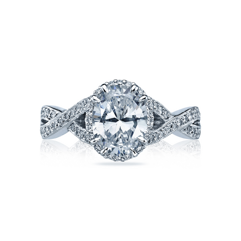 Tacori Pave Diamond Halo Engagement Ring (2627OV)