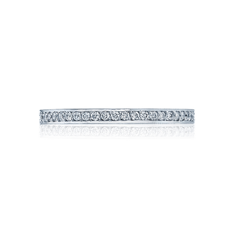Tacori Women's Wedding Band Dantela 2630bmdp12, Platinum and Pave Diamonds