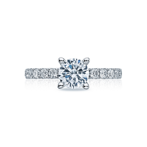 Tacori Solitaire and Pave Engagement Ring (33-2.5RD)