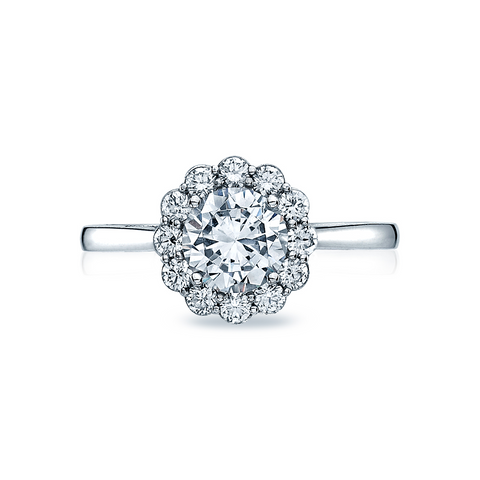 Tacori Diamond Halo Engagement Ring (55-2RD)