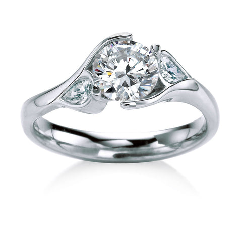 MaeVona Poppy Diamond Engagement Ring.