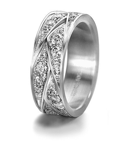 Furrer Jacot diamond wedding band. Magiques Collection.