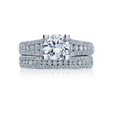 Tacori Pave Diamond Engagement Ring with Diamond Wedding Ring(HT2513RD)