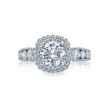 Tacori Diamond Halo Engagement Ring (HT2521CU)