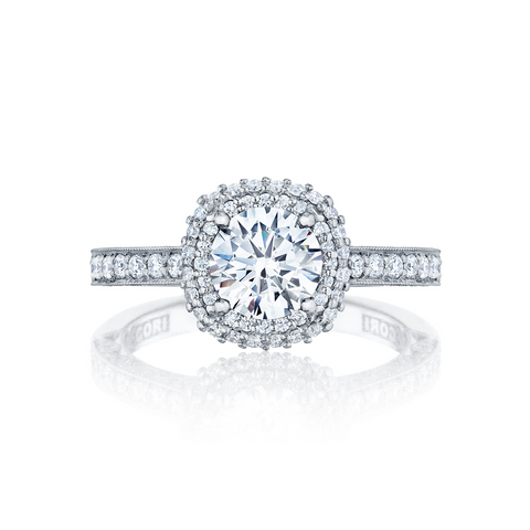 Tacori Diamond Halo Engagement Ring (HT2522CU)