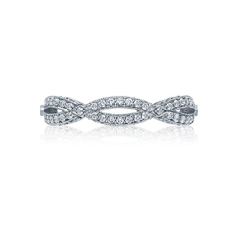 Tacori HT2528B Diamond Wedding Band, Ribbon Design Diamond Eternity Ring