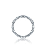 Tacori HT2528B Diamond Wedding Ring, Ribbon Design and Crescent Detail