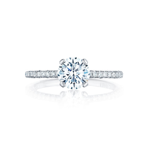 Tacori Solitaire and Pave Engagement Ring HT25451.5RD