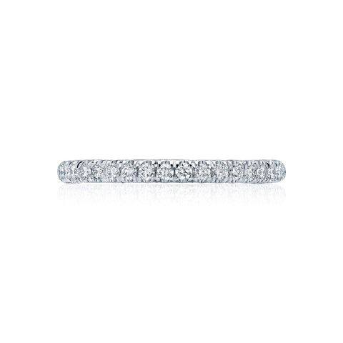 2mm Diamond Wedding Band, Tacori HT2545B1/2 Petite Crescent