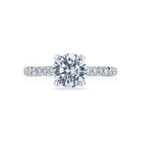 Tacori Solitaire and Pave Engagement Ring HT2545RD