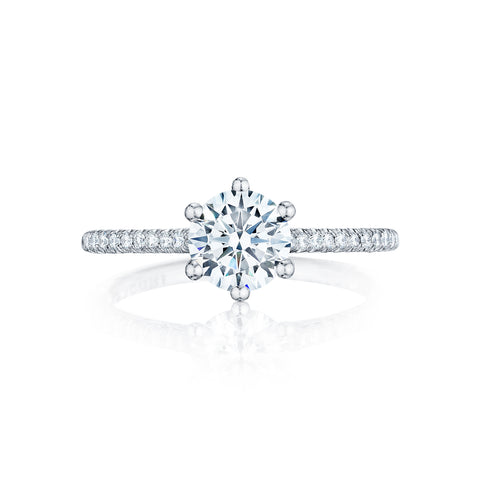 Tacori Solitaire and Pave Engagement Ring (HT25461.5RD)