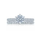 Tacori Solitaire and Pave Engagement Ring wit Diamond Wedding Ring(HT2546RD)