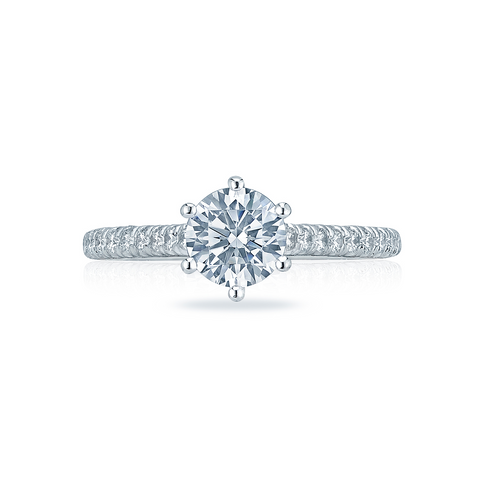 Tacori Solitaire and Pave Engagement Ring (HT2546RD)