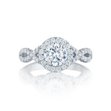Tacori Pave Diamond Engagement Ring (HT2549RD)
