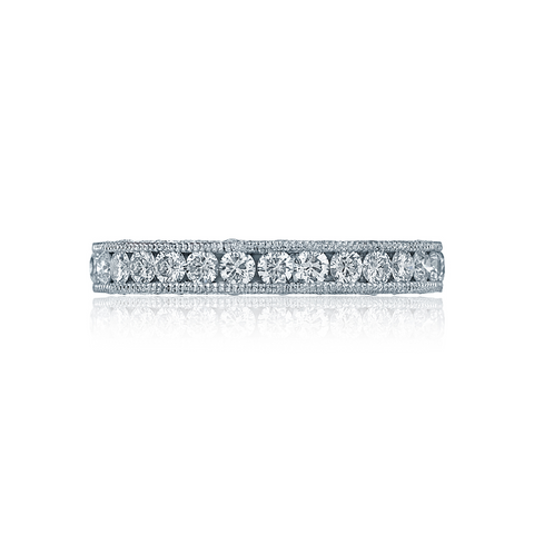 Tacori Women's Wedding Bands, Style HT2607B RoyalT, Platinum Diamond Band