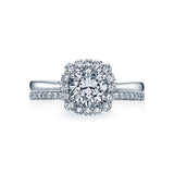 Tacori Halo Ring with diamond wedding ring 55-2CU