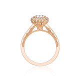 Tacori Halo Yellow Gold Engagement Ring (55-2CU)