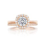 Tacori Halo Yellow Gold Engagement Ring with Yellow Gold wedding ring(55-2CU)