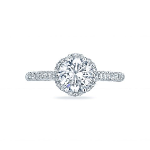 Tacori Diamond Halo Engagement Ring (HT2547RD)