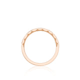 Tacori 46-2 18ct Rose Gold Sculpted Crescent Diamond Wedding Band