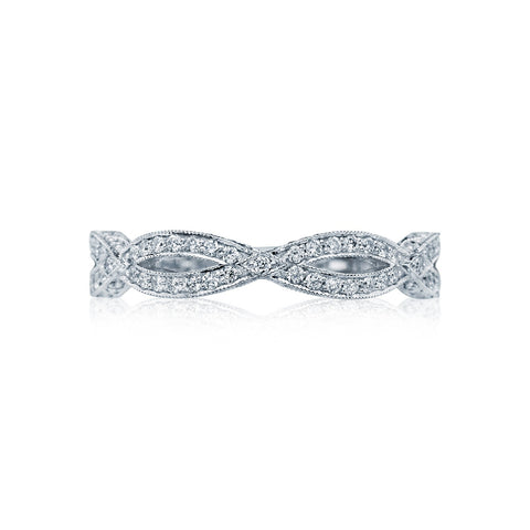 Tacori Ribbon Collection Diamond Wedding Band, Tacori Style HT2528B1/2
