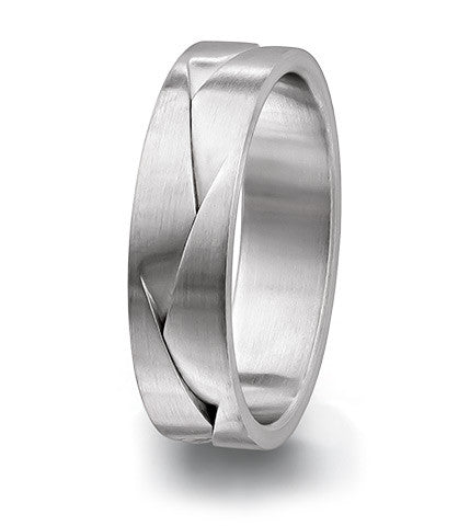Men's fused 6mm Furrer Jacot wedding band. Magiques Collection.